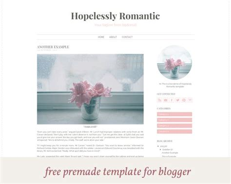 free blogger templates for your blog 23 best images about blog template on pinterest feminine