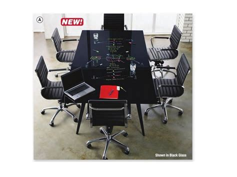 4 X 8 Conference Table Black Glass Writeable Top 8 X4 Conference Table With Black Base And Wire Management New
