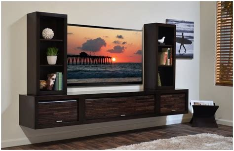 wall mount tv cabinet amazing dark brown laminated wooden wall mounted tv