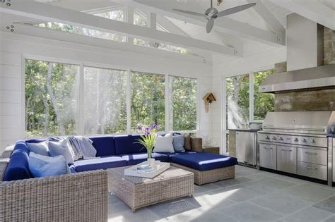 Beautiful Sunrooms Beautiful Sunroom With A White Truss Ceiling Accented With