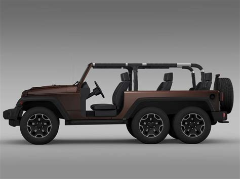 Jeep Models 2016 Jeep Wrangler Rubicon 6x6 2016 3d Model Max Obj 3ds