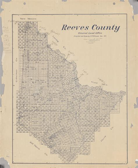 reeves county texas map reeves county the portal to texas history