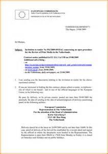 10 invitation to tender letter ledger paper