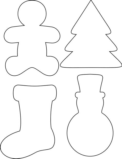 printable holiday shapes best photos of cookie cutter templates printable