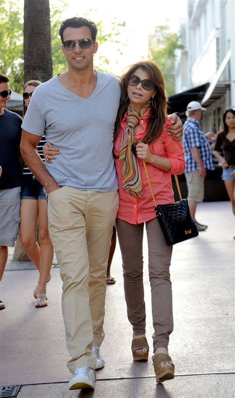 Paula Abdul Still Has A Boyfriend paula abdul and jon caprio stroll around miami zimbio