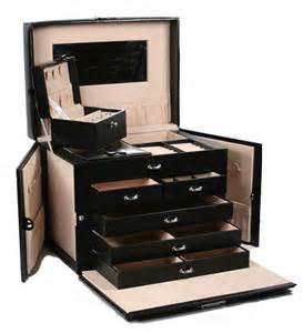 Organizer Storage Box Msrp 158 Black Leather Jewelry Box Case Storage Organizer