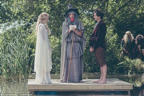 love boat theme dress up hobbit mad couple transform garden into middle earth to