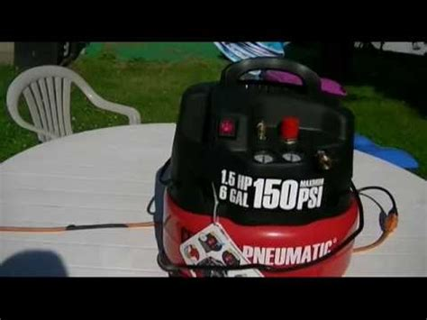 harbor freight central pneumatic 6 gallon professional oilless air compressor review