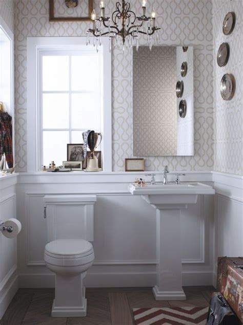 bathrooms with chair rail molding love the chandeleir lighting chair rail with molding is