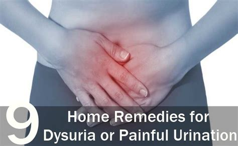 9 great home remedies for dysuria or