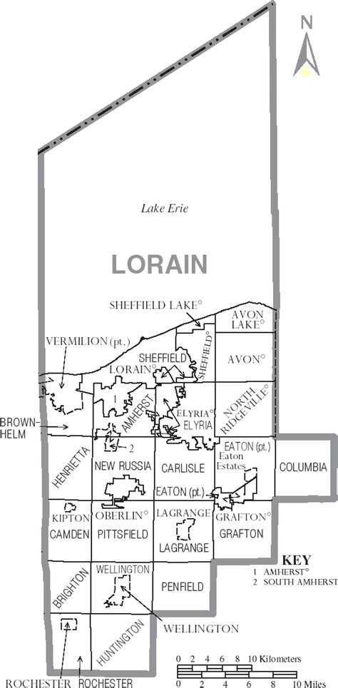 map of lorain ohio townships in ohio