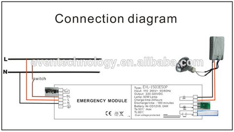 emergency light fixture wiring diagram