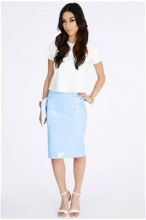 missguided pvc skirts we