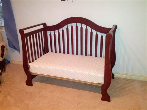 sleigh bed crib mommy market cherry sleigh bed crib and mattress