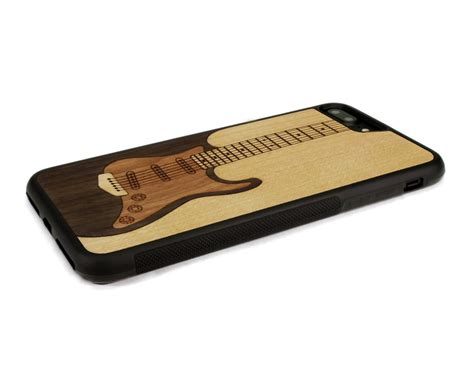 Indocustomcase Guitar Apple Iphone 7 Or 8 Cover iphone 7 plus wood electric guitar wood iphone 7