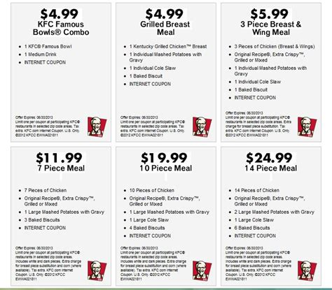 printable meal vouchers newest kfc coupons kfc coupons
