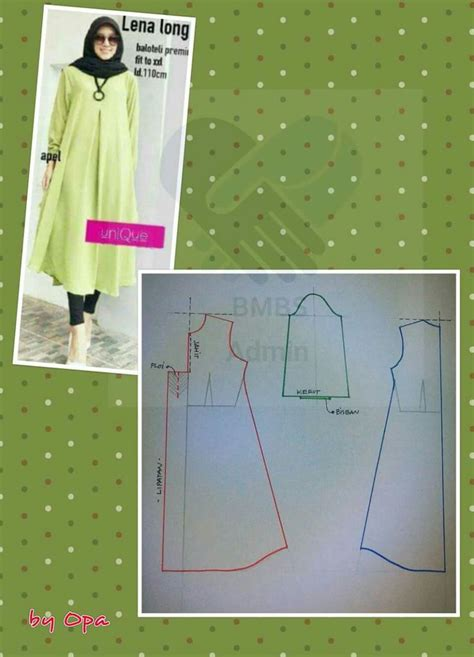 Kutubaru Tunic 1 19 best pola muslim images on dress patterns
