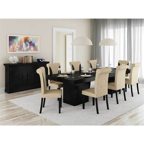 urban rustic solid wood  piece dining room set