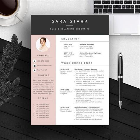 artistic resume templates free professional resume template bundle cv package with