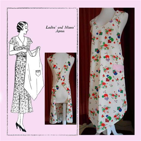 etsy apron pattern apron history reproduction apron patterns on etsy