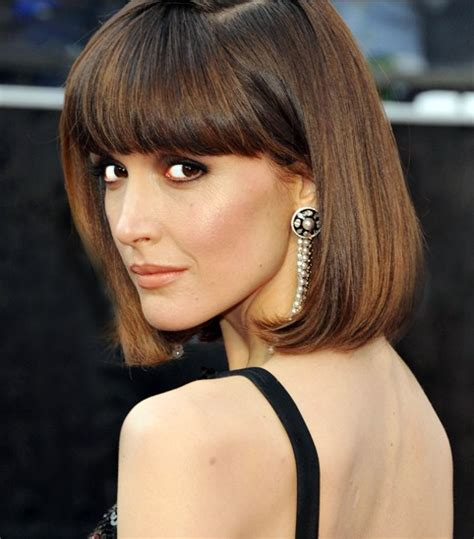 bob haircuts thick hair 2014 hairstyle ideas chic bob hairstyle with blunt bangs