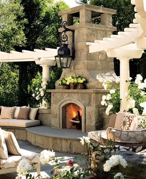 amazing outdoor fireplace designs part 3 style estate