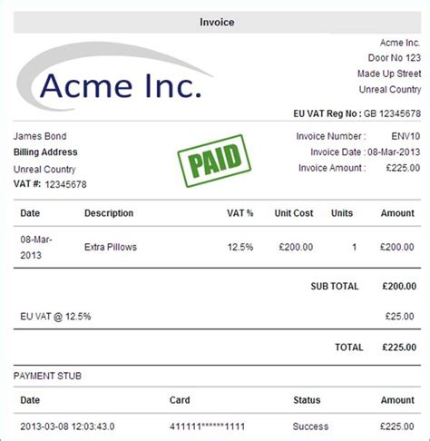 european invoice template invoice with vat free printable invoice
