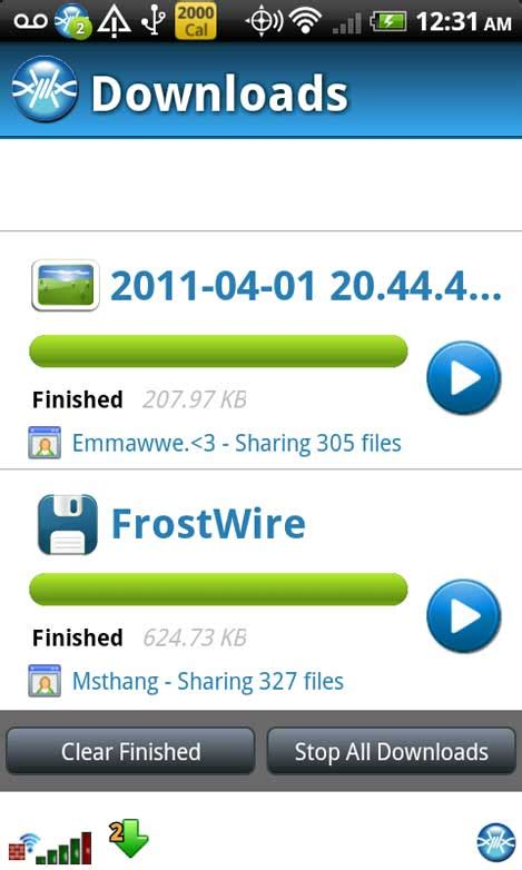 frostwire for android frostwire para android con soporte para 3g 4g wifi