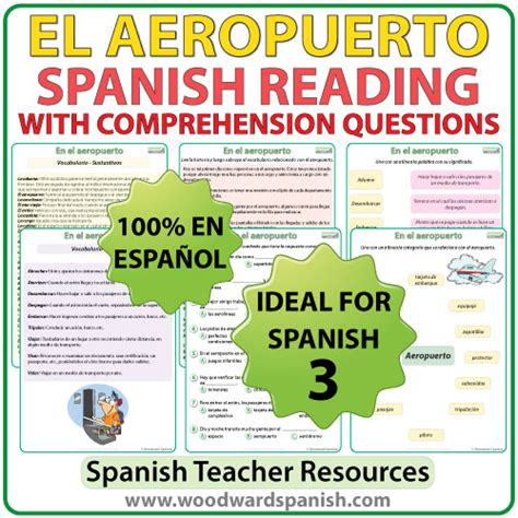 preguntas en ingles aeropuerto spanish reading el aeropuerto woodward spanish