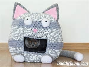 cat bed pattern pattern house crochet cat bed cave pattern by