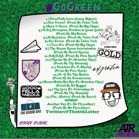 Blog Posts Gogreenmemo   the 6th letter go green mixtape download blog
