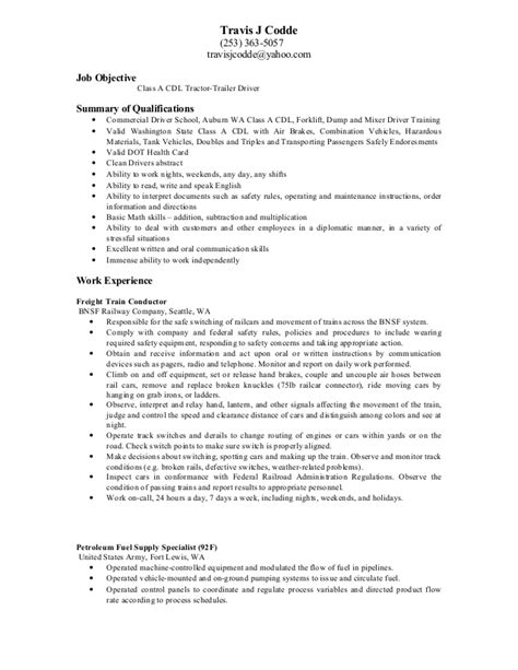 sle resume for truck driver with no experience truck driver qualifications resume