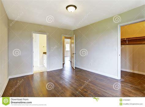 Empty Master Bedroom With Walk in Closet Stock Image