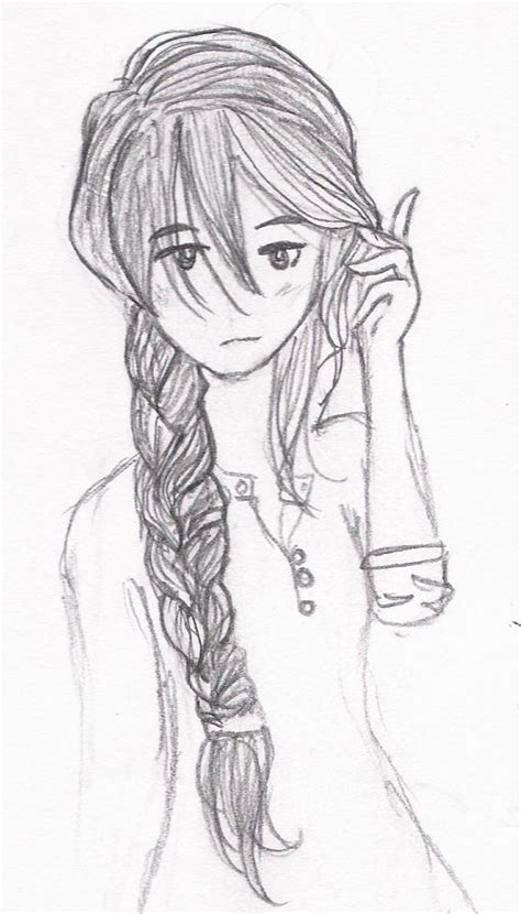 how to do doodle braids side braid drawing