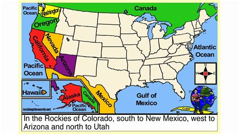 western region of the united states map the western states geography song