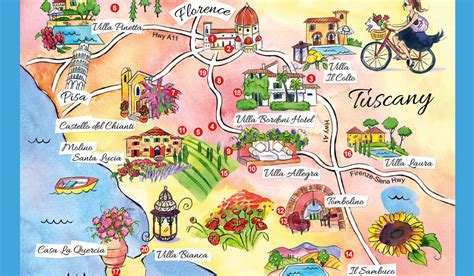 printable map tuscany pin map of tuscany on pinterest