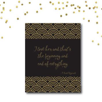 printable gatsby quotes printable quote art gatsby quote from