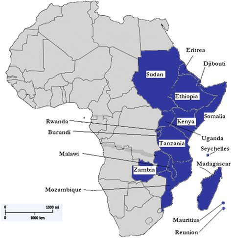 5 regions of africa map east africa region pictures to pin on pinsdaddy