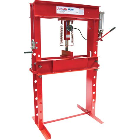 pneumatic shop press arcan 40 ton pneumatic shop press with and winch