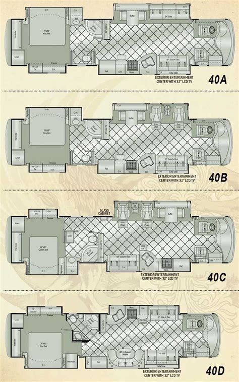 class a rv floor plans damon essence class a motorhome floorplans large picture