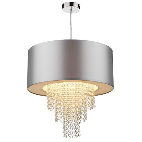 silver ceiling light shade