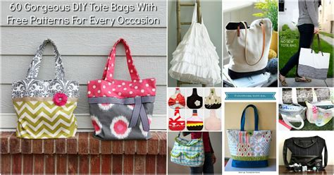 How To Make Handmade Tote Bags - 60 gorgeous diy tote bags with free patterns for every