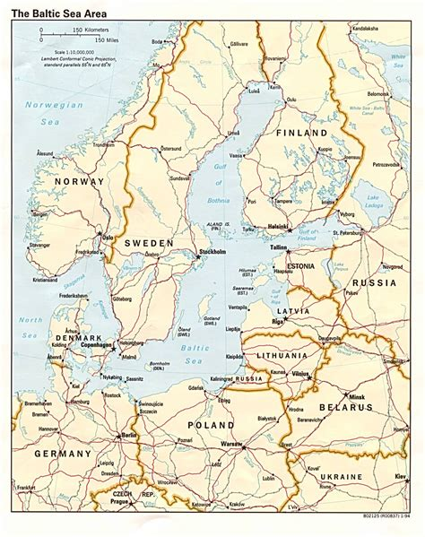 Baltic States Map by Balkan Sea States Map Sweden Mappery