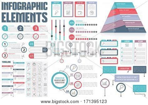 infographic and diagram design elements vector infographic elements process infographics workflow