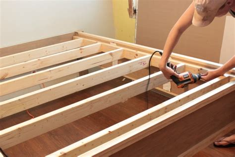 how to make a bed frame out of pallets how to make a wood bed frame
