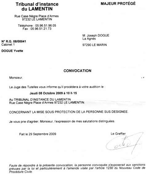 Exemple De Lettre Tribunal D Instance Lettre Convocation Tribunal D Instance Joseph Dogue 85 Ans
