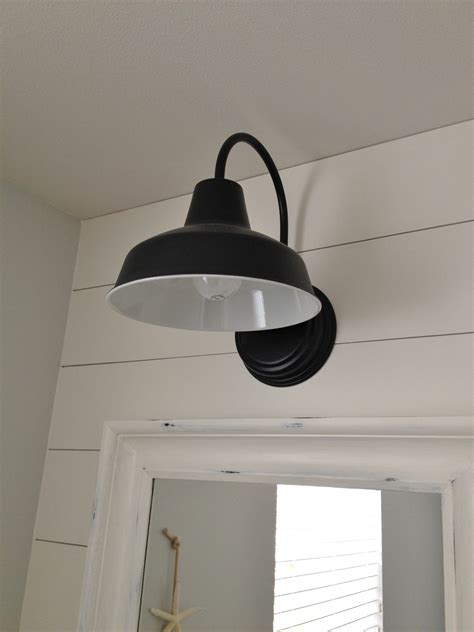 Lighting Sconces For Bathroom Barn Wall Sconce Lends Farmhouse Look To Powder Room Remake Barnlightelectric