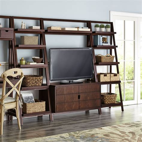 morgan tall tv stand tuscan brown pier  imports