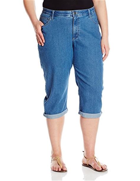 lee comfort waist capris plus size riders by lee indigo women s plus size comfort waist cuff