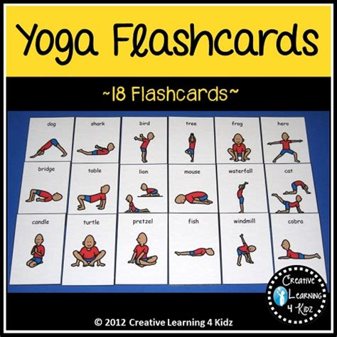 printable yoga flash cards yoga cards digital download